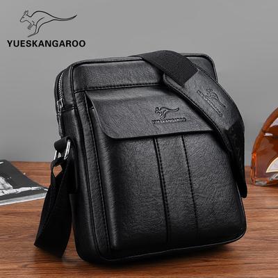 Yuesen kangaroo shoulder bag male leather men's shoulder bag casual messenger bag small bag oblique shoulder bag small bag 2021 tide