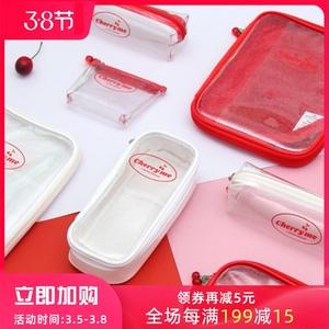 韩国plan d 果冻透明立体多功能笔袋文具包便携收纳包ipad平板包