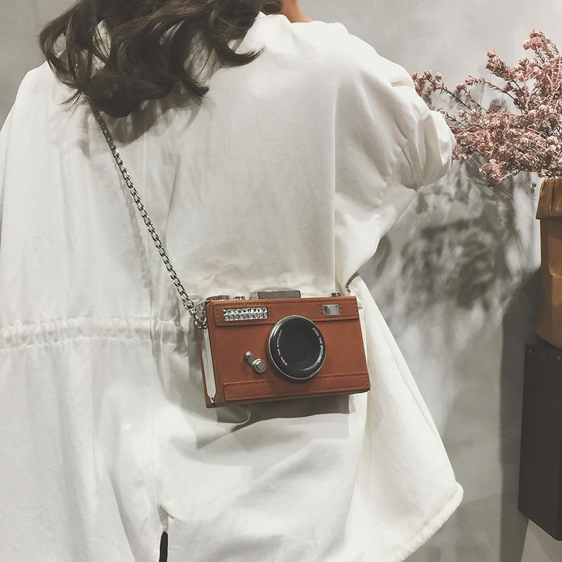 迷你包包女夏2021新款时尚小众港风相机盒子包百搭复古斜挎小方包