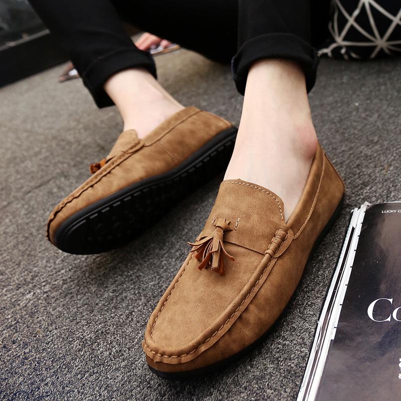 豆豆鞋男懒人鞋夏季