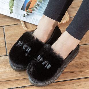 秋冬韓版保暖厚底新款毛毛鞋