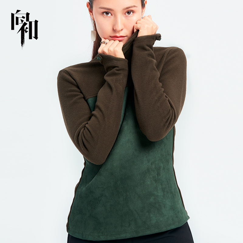 Xiang Chus high collar bottomed shirt womens spring and autumn clothing 2019 new Long Sleeve Top Long Sleeve T-Shirt Chinese style