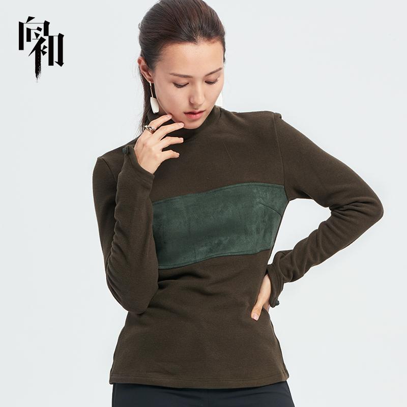 Xiang Chus high collar base coat womens autumn winter dress 2019 new long sleeve spring autumn Top Long Sleeve T-Shirt Chinese style
