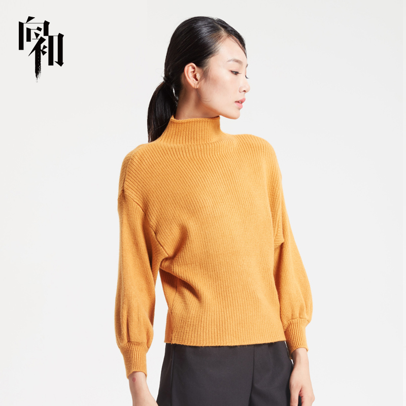 To the early autumn and winter womens wear turtleneck sweater Pullover Sweater slim simple knitwear long sleeve bottom coat women