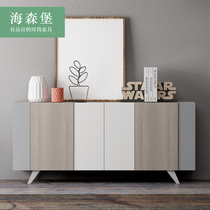 Dining cabinets Nordic Modern simple household locker living room door side cabinet solid wood storage Cabinet Xuan Guan cabinet