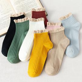 花邊襪子女ins潮中筒襪春秋夏薄款女士棉襪韓國可愛日系純棉短襪圖片