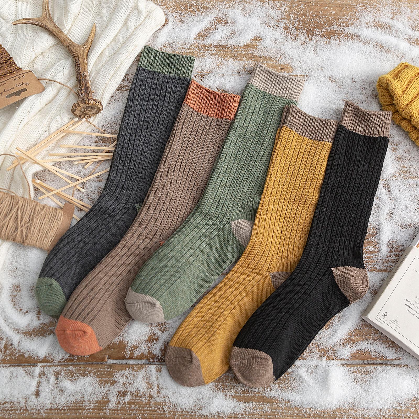堆堆袜女春秋薄款中筒袜纯棉高帮个性韩国日系长筒袜子高筒袜秋冬