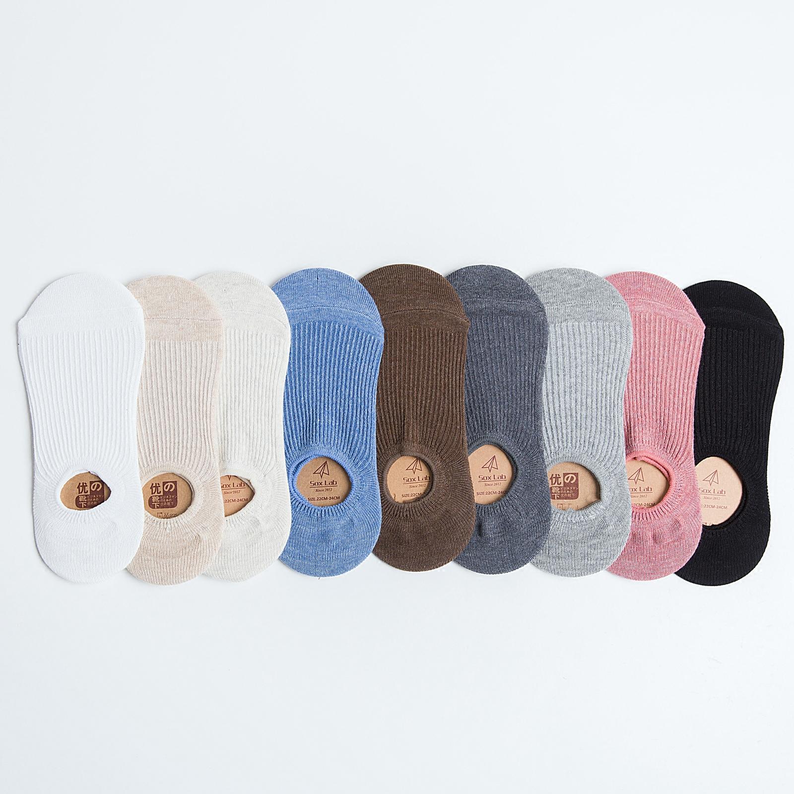 船袜女纯棉浅口袜子硅胶防滑纯棉女士夏季短袜薄款纯色低帮隐形袜