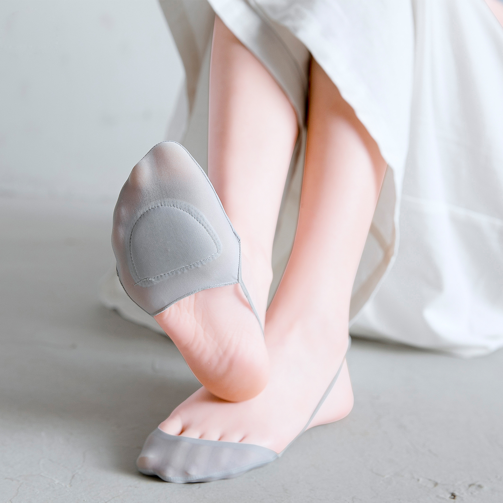 吊带隐形袜子女夏季薄款短袜浅口女士船袜冰丝前半掌高跟鞋凉鞋袜