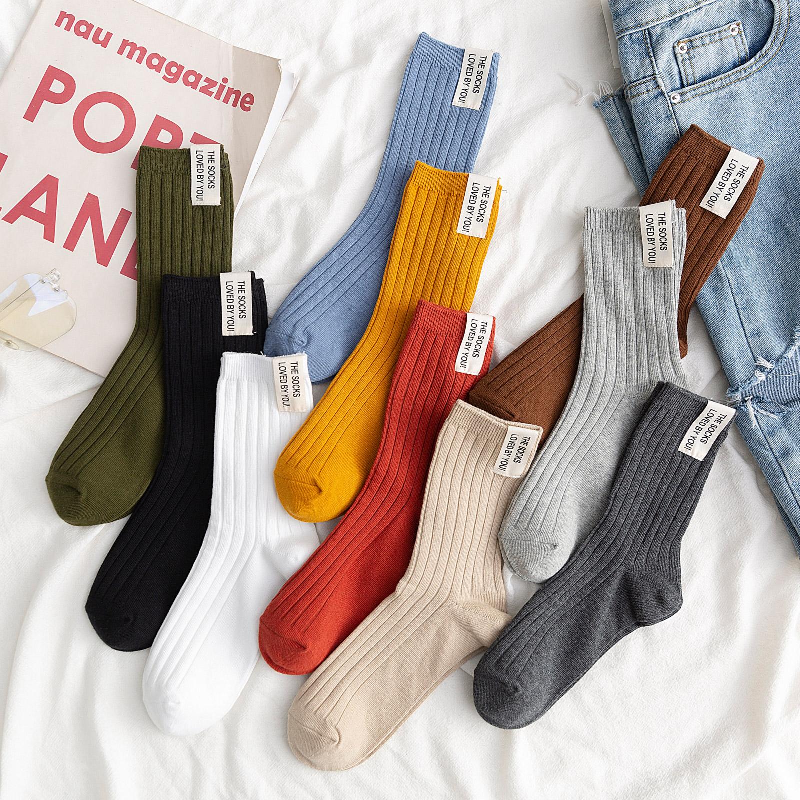 韩国日系秋冬季纯棉韩版潮女袜子满15元可用3元优惠券