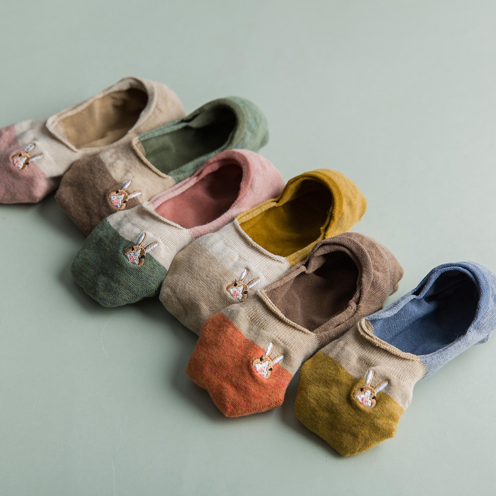 单鞋袜子女短袜浅口可爱袜底全隐形船袜夏季薄款纯棉硅胶防滑袜套