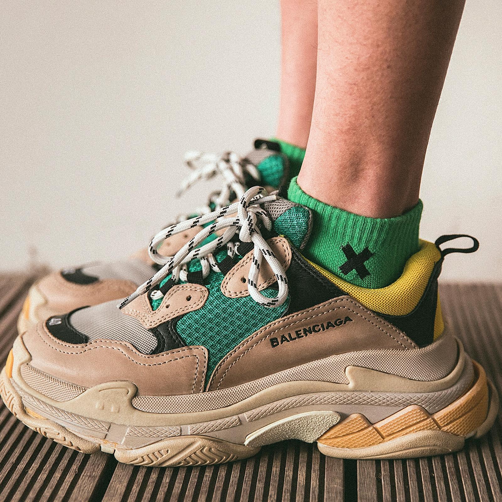 彩色袜子男女潮ins绿色短袜韩国日系全棉防臭街头纯棉秋季中筒袜