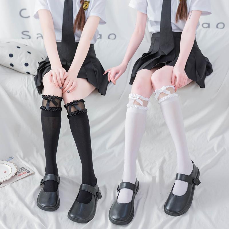 拍2件!春夏季薄款袜子女小腿袜 券后16.6元包邮