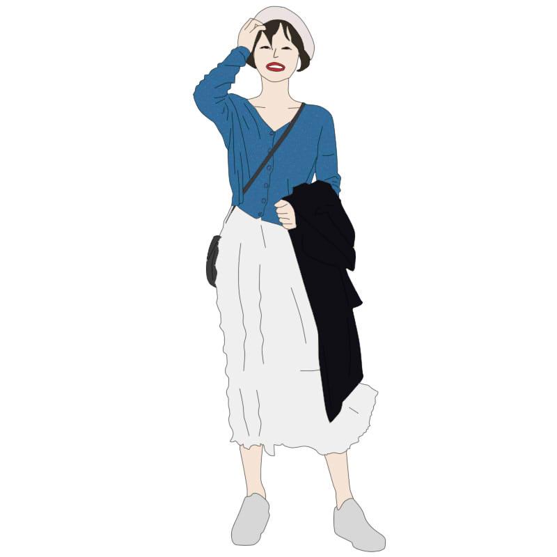 花栗鼠小姐 2018秋季新品复古高腰裙特殊压褶白色奶油半身裙秋