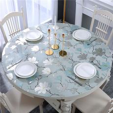 圆桌桌布防水防油免洗PVC台布透明软塑料玻璃防烫圆形餐桌垫家用