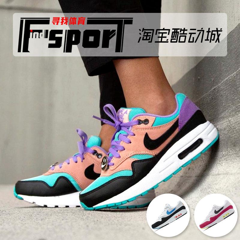 耐克air max 1笑脸蓝紫男女跑步鞋309.00元包邮