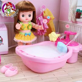 乐吉儿会说话的娃娃仿真婴儿搪胶软胶洋娃娃女孩公主玩具米露