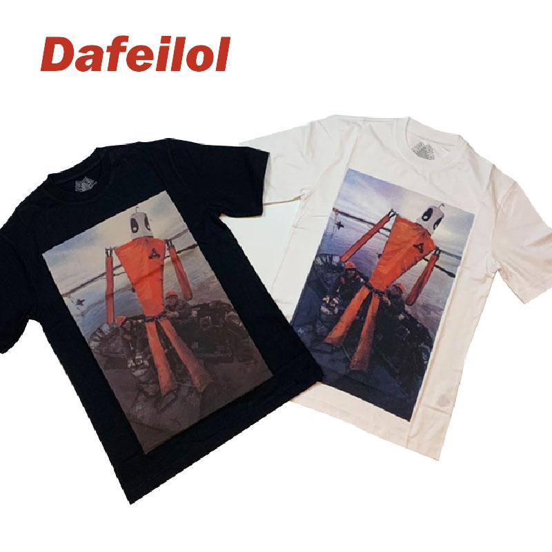 现货 Palace 19SS Slick T-Shirt 打捞船机器人 人物 圆领短袖T恤