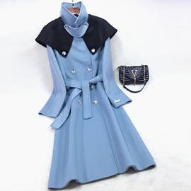 2020反季节韩国东大门斗篷双面羊绒大衣女高端可拆披肩羊毛呢外套