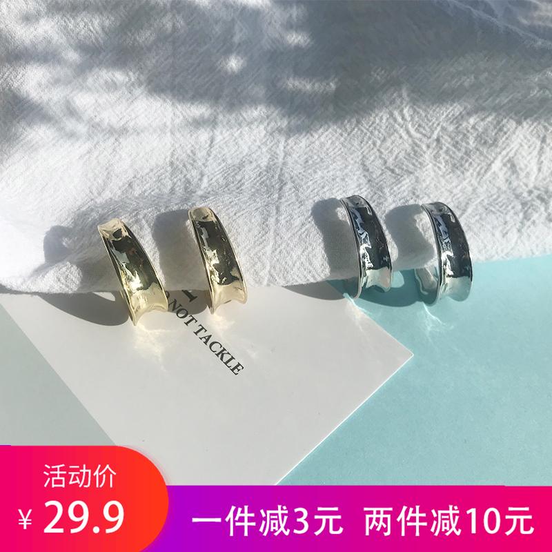 (用10元券)半圆圈月牙形气质女韩国网红潮耳钉
