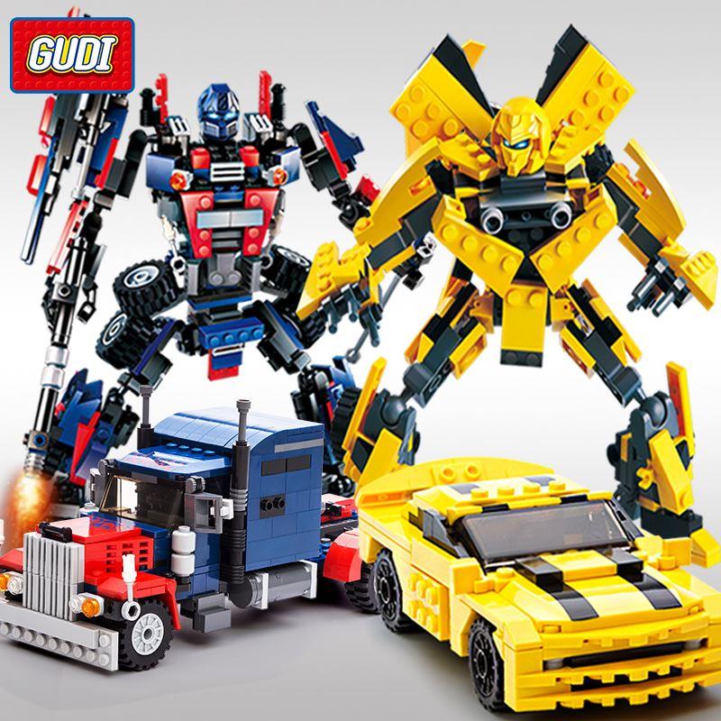 兼容乐高益智大黄蜂机器人拼装玩具