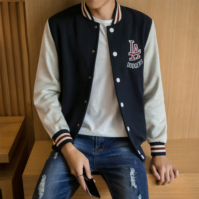 Spring and autumn new baseball clothes mens fashion Korean version student fashion sports lovers mens jacket jacket class clothes