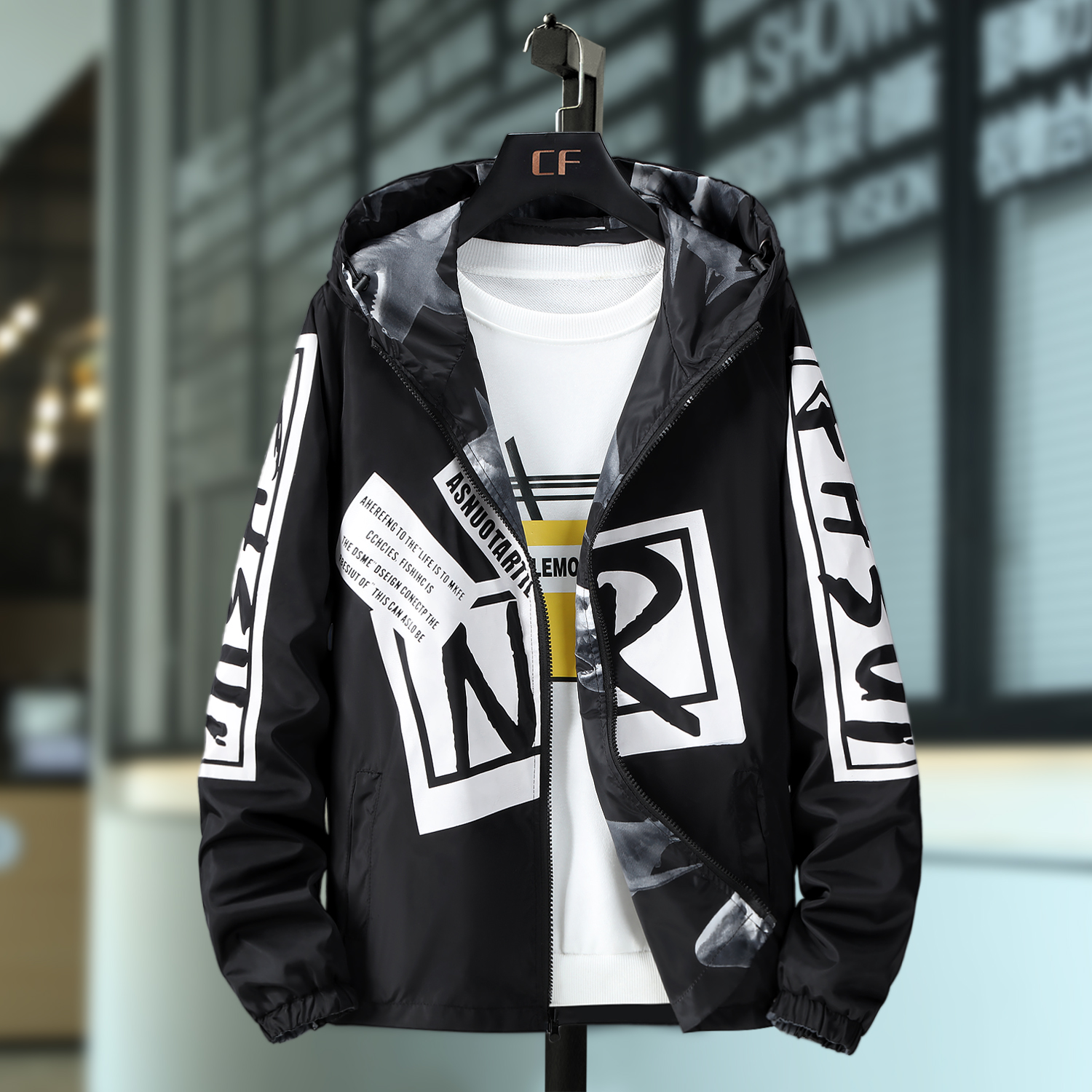 New double-sided jacket for 14-year-old children 15-year-old 16-year-old high school students spring and autumn clothes air permeability personality 18 mens coat