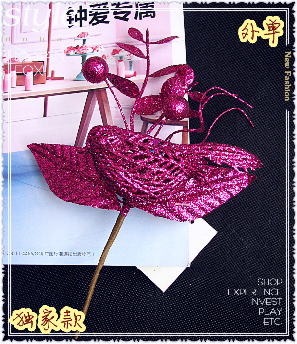 Package purple glittering bird gift box decorated with short flower branch artificial artificial flower export tail outer sheet