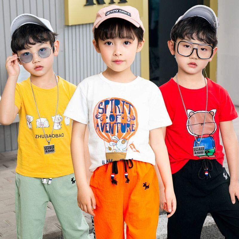 童装男童女童全棉夏季款套装2020新款中大童儿童运动短袖帅气韩版图片