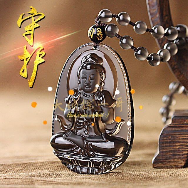 Big detective, eight guardians, 12 zodiac, Benming Buddha necklace, mens and womens Fashion Pendant