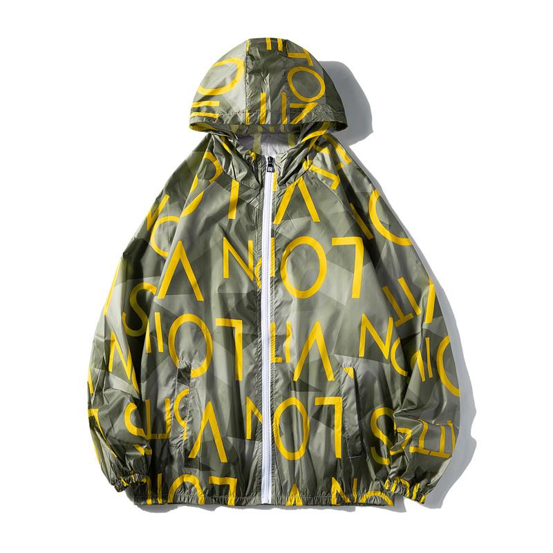 情侣装印花夹克男女夏季超薄款透气冰丝防晒衣服外套3FS6023-P25