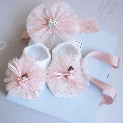 -3 hair with 100 women accessories newborn baby princess cute gift box pure cotton gift one year old suit socks 0 days