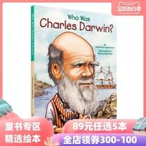 现货89元任选5本谁是查尔斯达尔文WhoWasCharlesDarwin英文原版名人传记系列中小学生读物进口图书