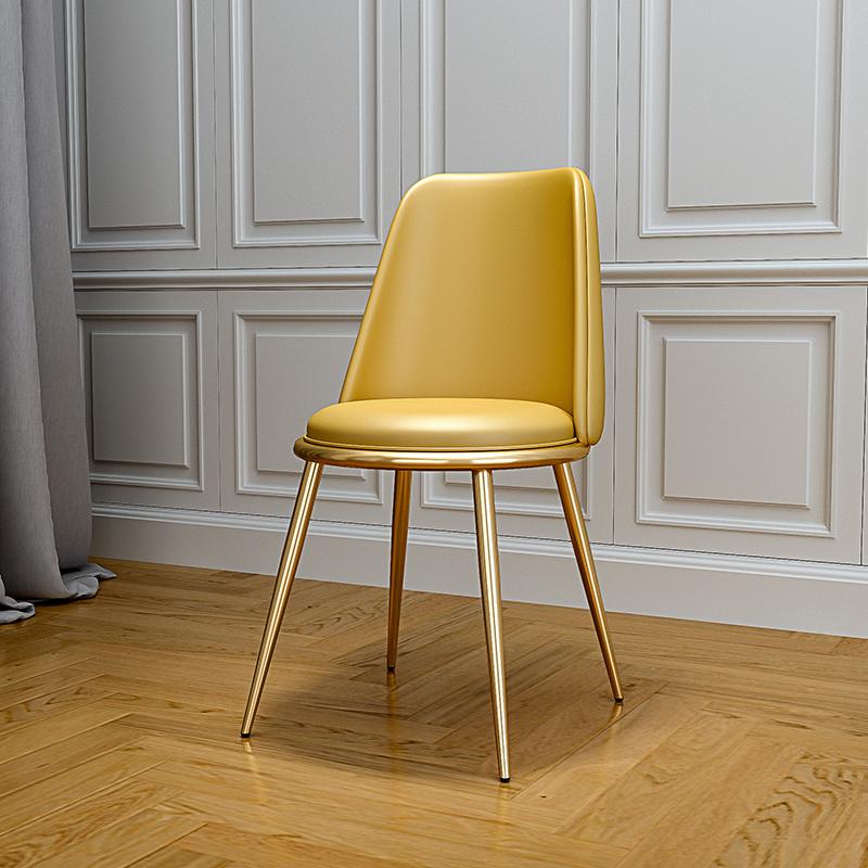 ins家用靠背餐椅軟包辦公皮椅子餐廳休閑椅凳電腦椅書椅沙發凳