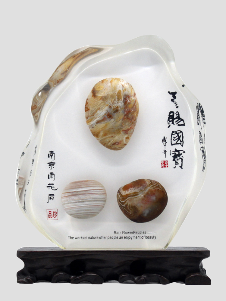 Five art natural rain flower stone iceberg ornament mid-autumn special gift business custom to send customers abroad to send foreigners
