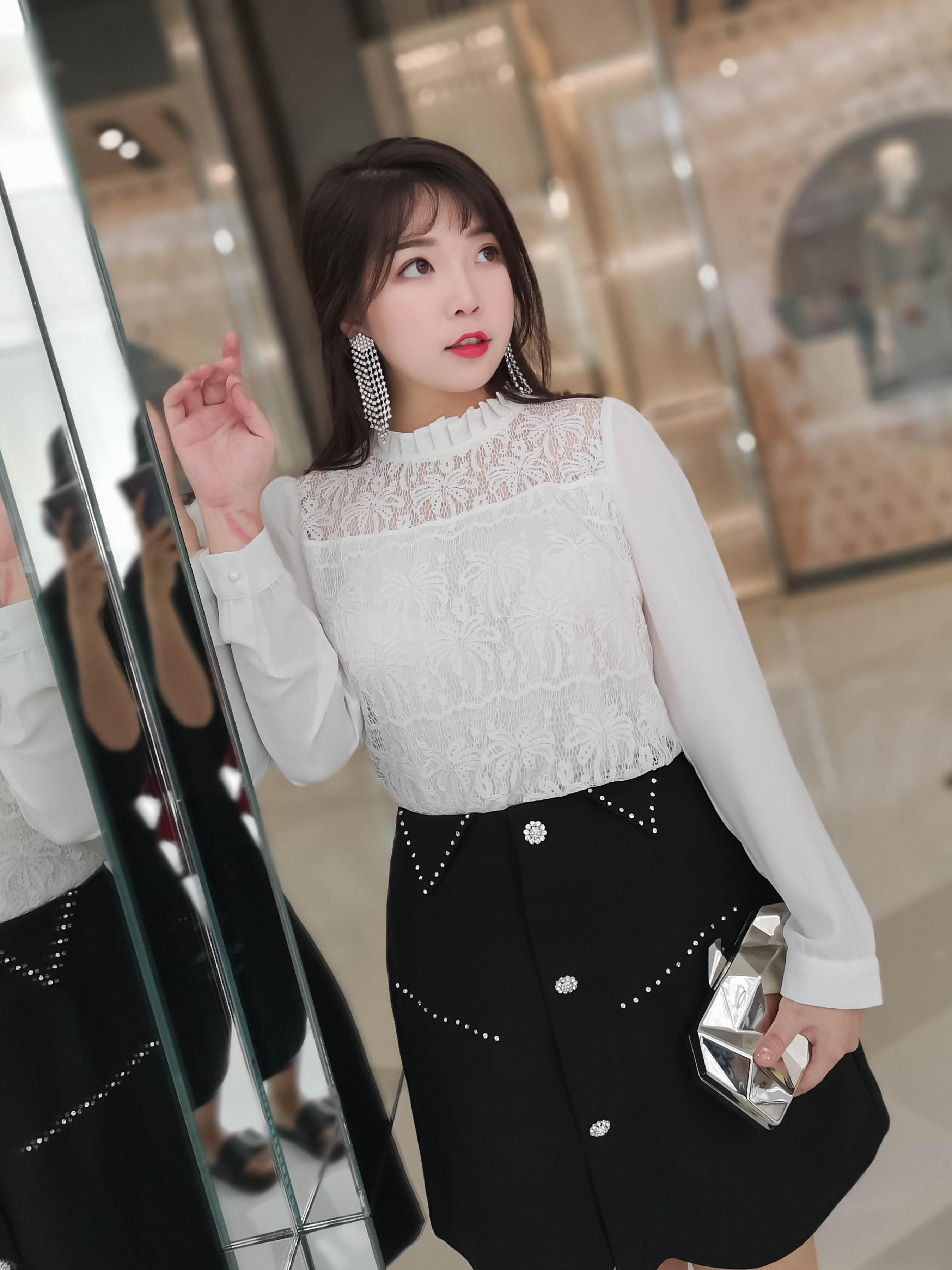 辣妈起义胖mm2018秋季新款雪纺衫大码女装韩版显瘦百搭打底蕾丝衫