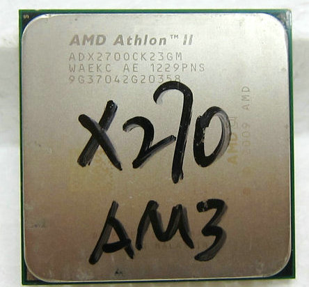 AMD Athlon II X2 270 3.4G 速龙II AM3 双核台式机CPU 另有X280