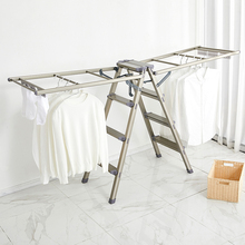 Clothes drying rack floor folding with ladder clothes drying rack multifunctional herringbone ladder balcony wing clothes cooling rack household