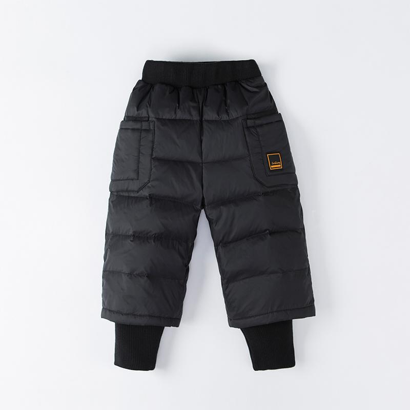 2020冬新款宽松儿童羽绒裤加厚男童女童宝宝反季东北外穿幼童裤子