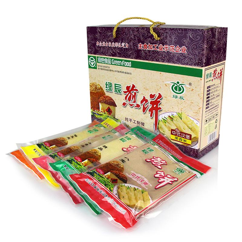 东北特产绿辰煎饼大礼盒年货黑龙江粗粮手工煎饼速食早餐125g*10