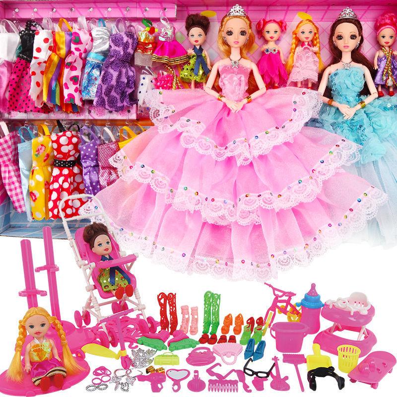 换装娃娃套装屋女孩公主儿童玩具衣服裙子过家家洋娃娃布生日礼物