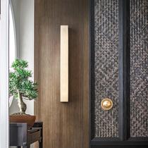 新中式客厅壁灯轻奢创意设计师过道楼梯卧室床头灯背景墙云石壁灯