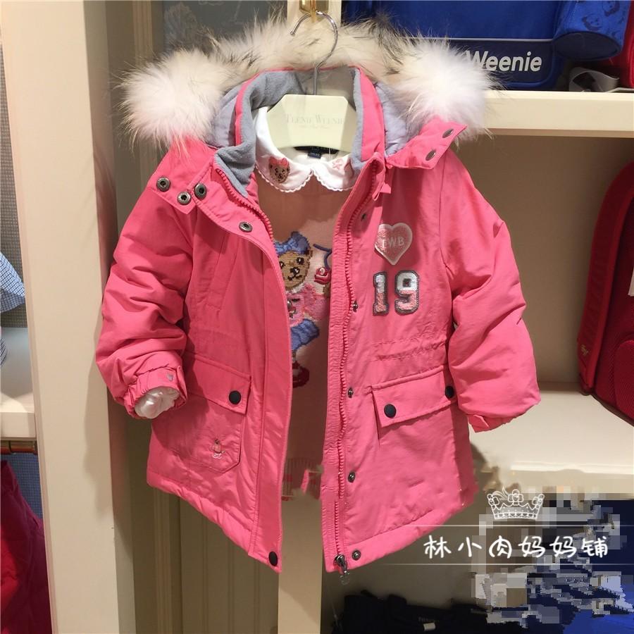 验货清20冬款tw小熊女童装棉服