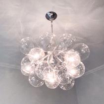 北欧灯具现代简约客厅ins餐厅吊灯卧室儿童房创意个姓玻璃泡泡灯