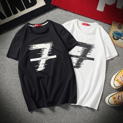2018新款大码男装潮流修身短袖T恤 款号t05 P30
