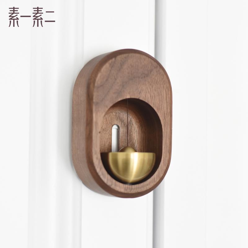日系风铃吸门式铜铃铛冰箱贴装饰入户小挂件进门挂饰创意乔迁礼物