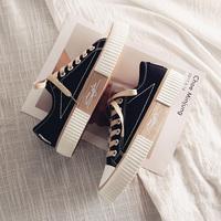 饼干小黑2021春季新款韩版帆布鞋评价好不好?
