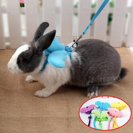 溜兔子牵引绳兔绳宠物用品天使胸背带牵引带侏儒防挣脱防咬衣服图片