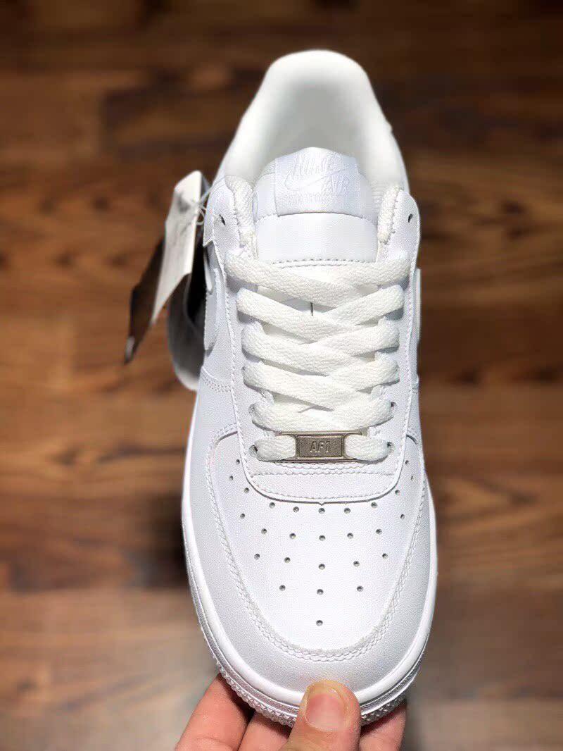 空军一号男鞋女鞋全白低帮休闲AF1板鞋白红高帮小麦色解构情侣鞋