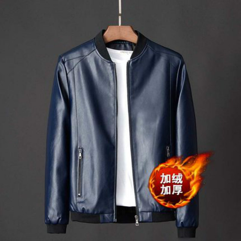 Mens leather clothes mens fashionable spring and autumn new mens clothes handsome leather jacket slim trend Korean winter coat